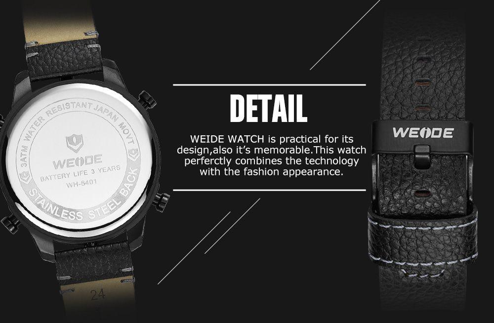 ... Pánské masivní hodinky Weide Luxury - Šedé 1c51f4d631