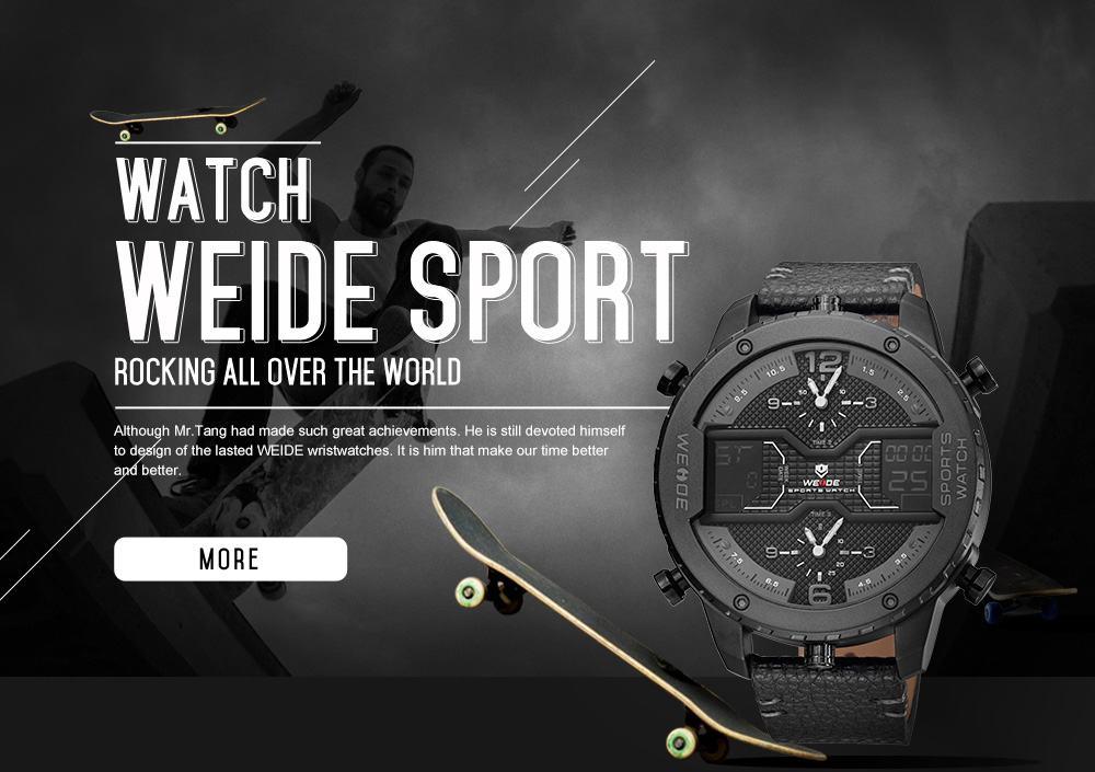 ... Pánské masivní hodinky Weide Luxury - Šedé ... 783ed19510e