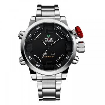 Pánské hodinky Weide Hard - Stříbrno-černé 6dcedb12ea